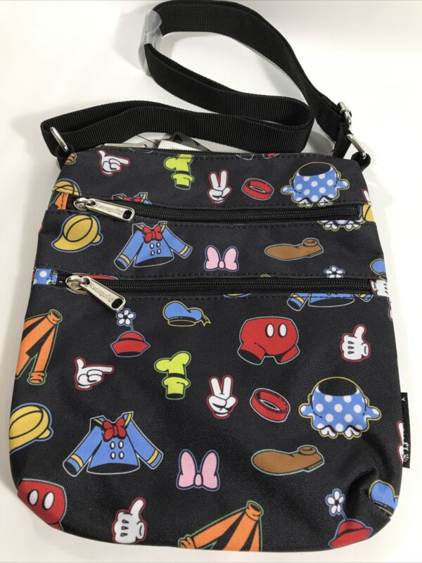 Loungefly Disney Mickey Mouse & Friends Clothes Crossbody Bag