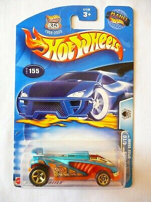 Hot Wheels 2003 Track Aces 4/10 Speed Shark Blue 155 Diecast 1:64 NEW