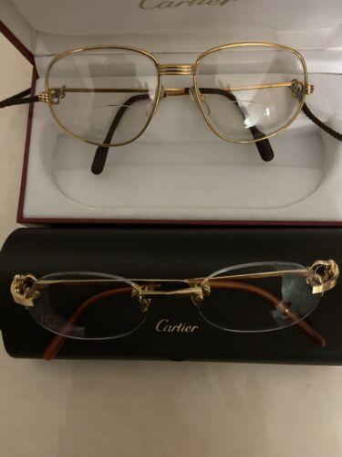 Deux paires de lunettes cartier
