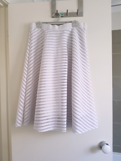 Crossroads white flowy midi skirt