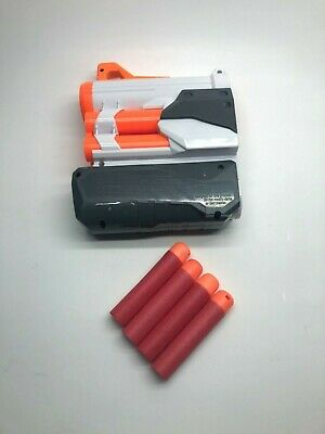 NERF Modulus Tri-Strike MEGA Dart Barrel Extension with 4 MEGA Darts