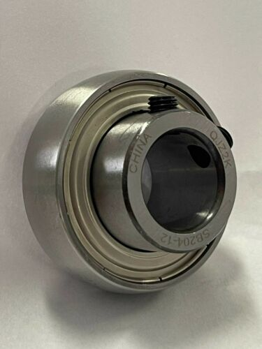 "SB204-12 3/4"" Bore Spherical Set Screw Insert Bearing 3/4"" x 47mm OD"