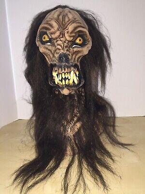 Erwachsene Wolfshund Wolfman Werwolf Scary Voll Latex Maske Kostüm TB26483