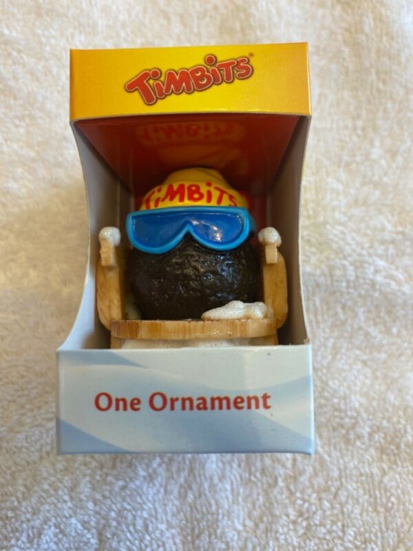 Tim Hortons Timbits Skiing Christmas Tree Ornaments 2012-- Timbit Skier