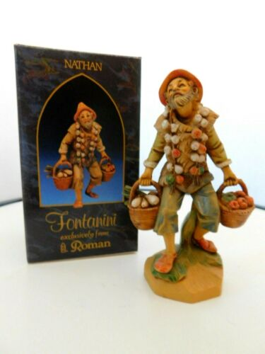 """Fontanini Italy """"Nathan"""" 7.5 inches Figurine with Box & Story Card"""