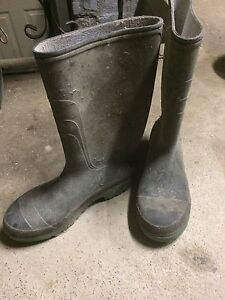 Rubber boots?!