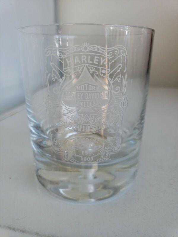 Harley Davidson Tumbler Glass
