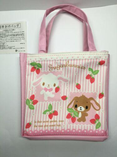 Sanrio Sugar bunnies Lunch Hand Bag Case School Pink Sugarbunnies Strawberry