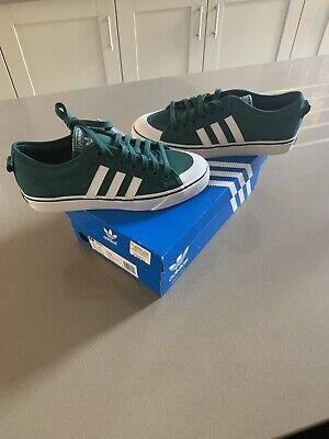 Adidas Nizza Size UK 8 Men's trainers. Green, BNIB RRP of £65 *B37858*