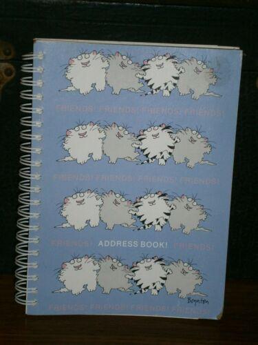 Vintage Spiral Bound Friends Address Book New Unused 1984 7x5½inch
