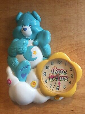 Care Bears Bedtime Bear Nursery Molded Analog Wall Clock 2004