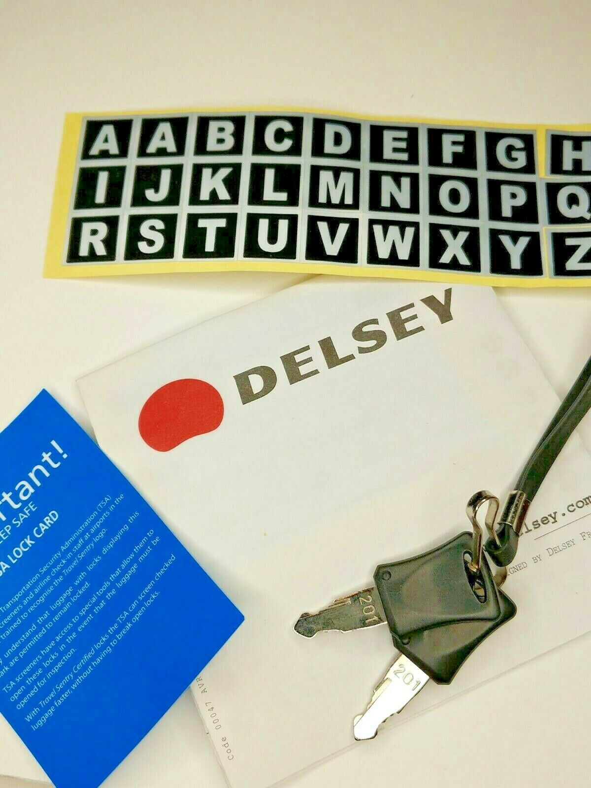 Delsey Accessories Luggage Keys Owners Manual Monogram Letters - $5.00