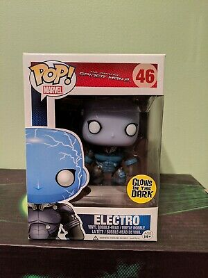 Funko Pop Figure Marvel Amazing Spiderman 2 Electro Glow GITD
