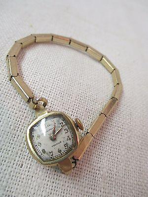 Vintage Waltham Premier Ladies Wrist Watch 14K solid Gold Duchess Band 1/20 10K