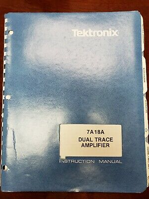 Vintage Tektronix Instruction Manual 7a18a Dual Trace Amplifier
