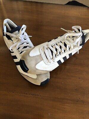 Vintage Adidas Nite Jogger - UK 10 White & Navy. Preowned.