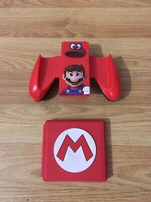 Joy Con Comfort Grip PowerA Super Mario Odyssey Nintendo Switch & Game Case RARE