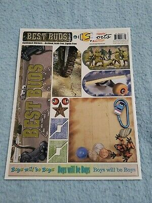 Scrappin Sports & More - BEST BUDS - Scrapbooking CARDSTOCK STICKERS -