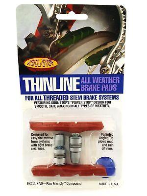 Kool-Stop Thinline MTB V Brake Pads - Threaded Extreme Condition Salmon Kool Stop Mtb Brake Pads