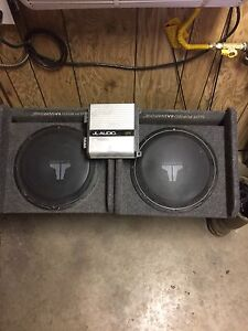 """Two 12""""  JL audio subs"""