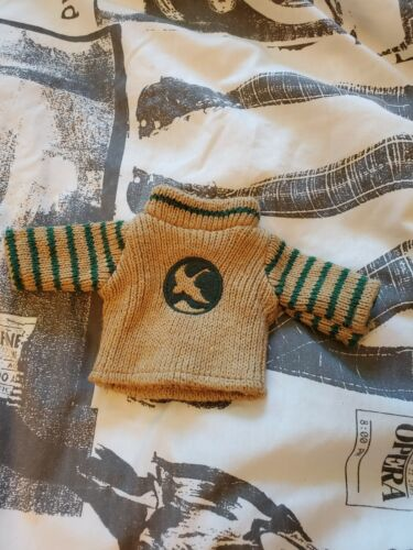Small Brown And Green Teddy Bear Sweater - $5.00