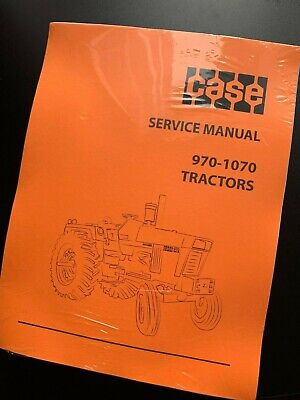 Case 970 1070 Tractors Service Repair Manual Print Version