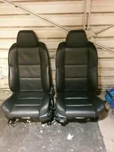 bmw E60 E61 M Sport front black leather seats heating possible install