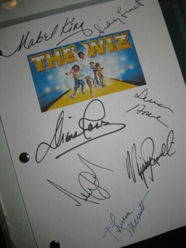 The Wiz Signed Film Script X7 Diana Ross Michael Jackson Nipsey Russell 1978 RPT