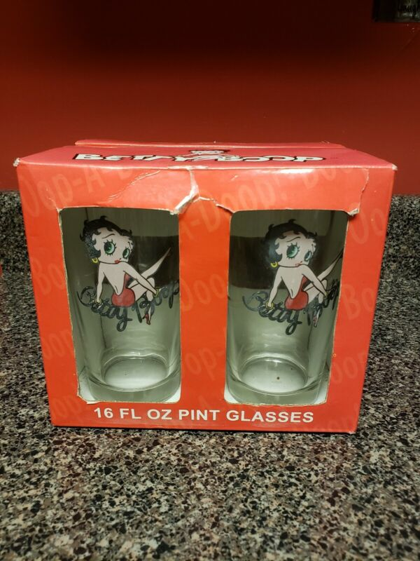 Betty Boop Set Of 4 Glasses