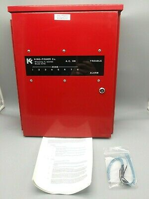 King Fisher Kfri Radio Master Box Auxiliary Control Panel Fire Alarm System Red