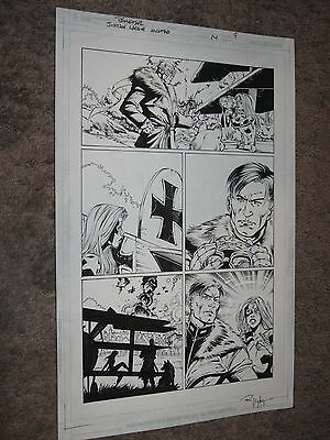 JUSTICE LEAGUE UNITED/JLA #14 Original Art Page #9 ~Paul Pelletier ENEMY ACE+