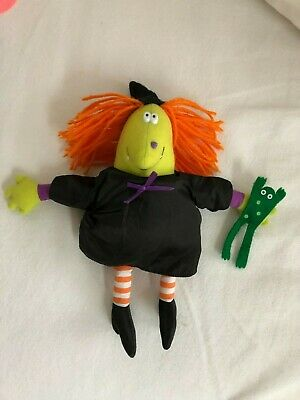 Vintage Hallmark Halloween Cackles Witch Toy Decor 1986 AS IS