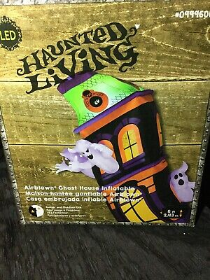 Haunted Ghost House Airblown Inflatable Halloween Yard Decor 8ft Gemmy New!