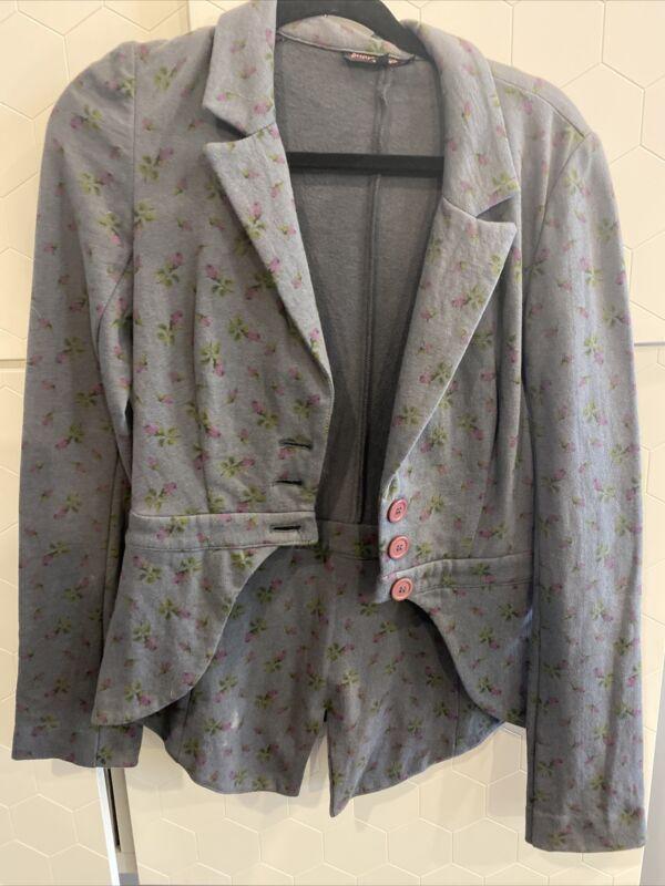 Betsey Johnson Grey Blazer S VINTAGE