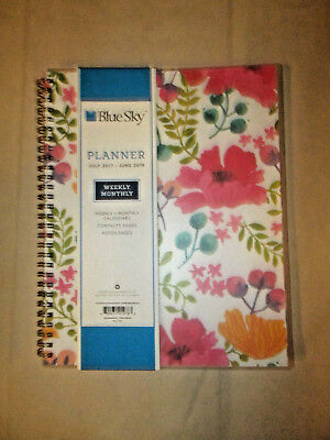 Blue Sky Weeklymonthly Plannercalendar Contact Pages Notes Pages 8 X 10 Vinyl