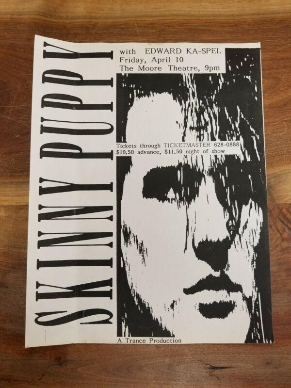 SKINNY PUPPY Vintage Flyer April 10th 1987 Seattle WA Industrial Edward Ka-Spel