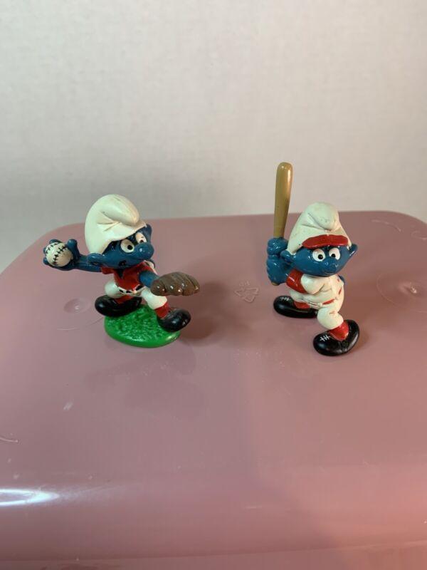 Vintage Smurfs Baseball