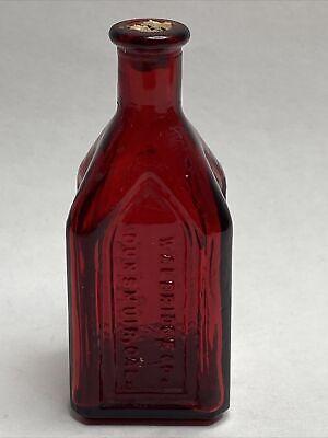 Mercury Glass Brown Vintage Syrup Bottle Cork Stopper Flower Vase Table Decor