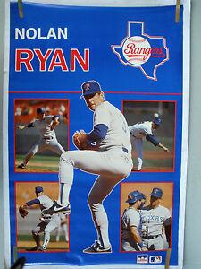 RARE-NOLAN-RYAN-RANGERS-1989-VINTAGE-ORIGINAL-MLB-STARLINE-BASEBALL-POSTER