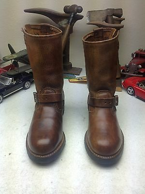 WALKER STEEL TOE BROWN DISTRESSED LEATHER ENGINEER MOTORCYCLE BOSS BOOTS 6EE](Walker Engineer Boots)
