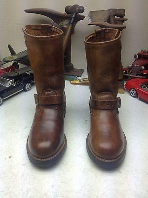 WALKER STEEL TOE BROWN DISTRESSED LEATHER ENGINEER MOTORCYCLE BOSS BOOTS 6EE](Walker Engineer Boots)