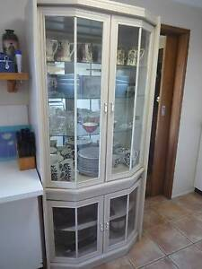 Two Silky Ash Entertainment Units with Bevelled Glass Doors Armidale Armidale City Preview