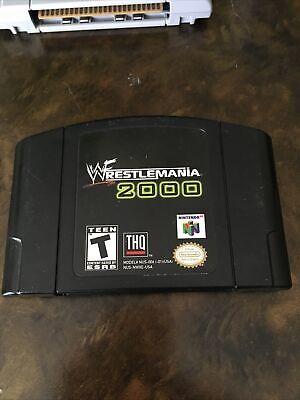 WWF WrestleMania 2000 N64 Authentic & Tested (Nintendo 64, 1999)