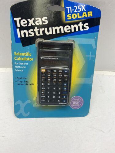 new ti 25x solar scientific calculator