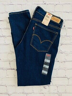 Levis 710 Super Skinny Mid Rise Dark Denim Women's Size 29/8 New With Tags