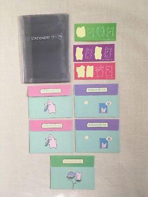 Used, 1991 Sanrio Zashikibuta Pig stationery envelopes stickers for sale  Waterford
