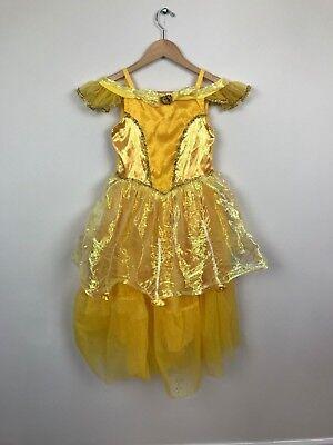 Walt Disney Welt Mädchen Kleid Kostüm Prinzessin Belle die Schöne und das Biest (Disney Prinzessin Belle Kostüme)