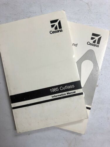 Cessna Cutlass Information  Manual 1985 & Pilot Safety & Warning Book Originals