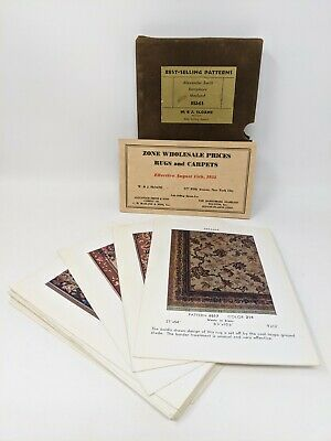 1932 Sloane Rugs Salesman's Book & Price List Best Selling Patterns