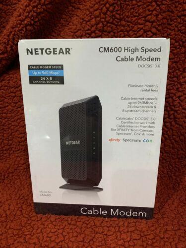 NETGEAR CM600 High-Speed Cable Modem w/ DOCSIS 3.0 CM600-100NAS NEW SEALED